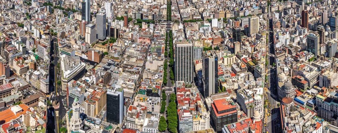 Vista aérea del centro de Buenos Aires