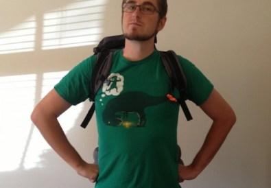 Jon with his rucksack on
