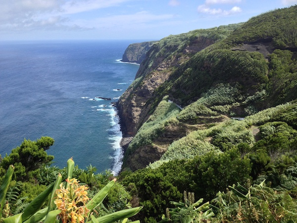 The coastline on the island of Sao Miguel