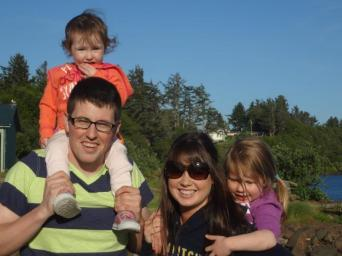 Chris and Tina and the girls