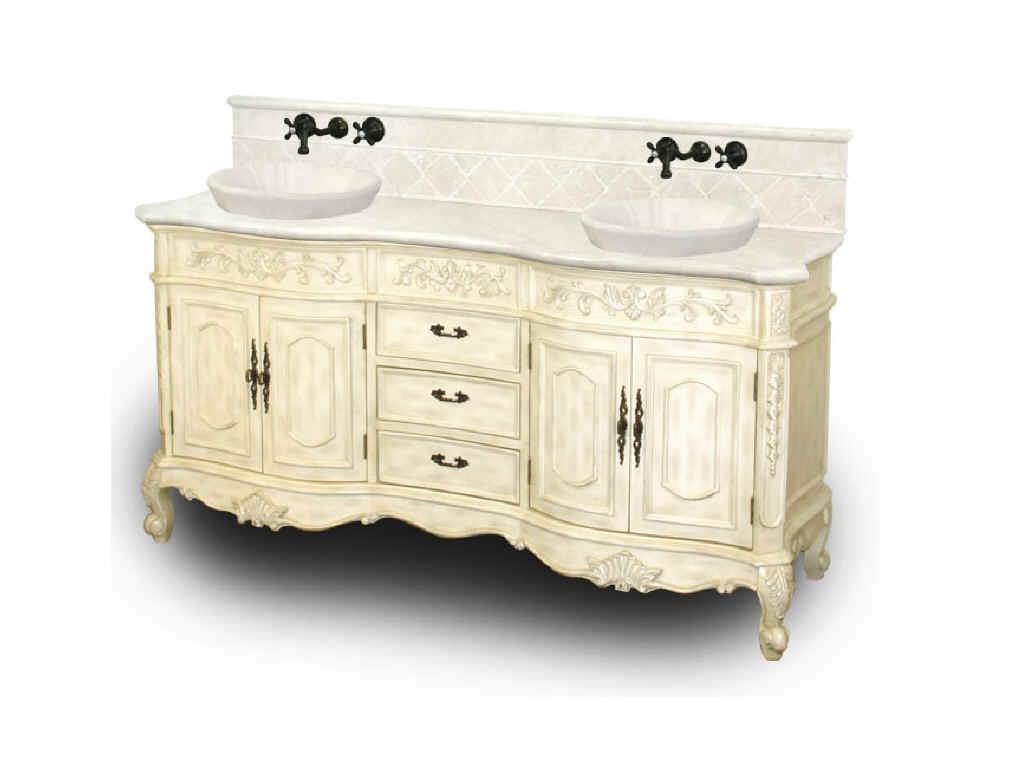 finding antique bathroom vanity white
