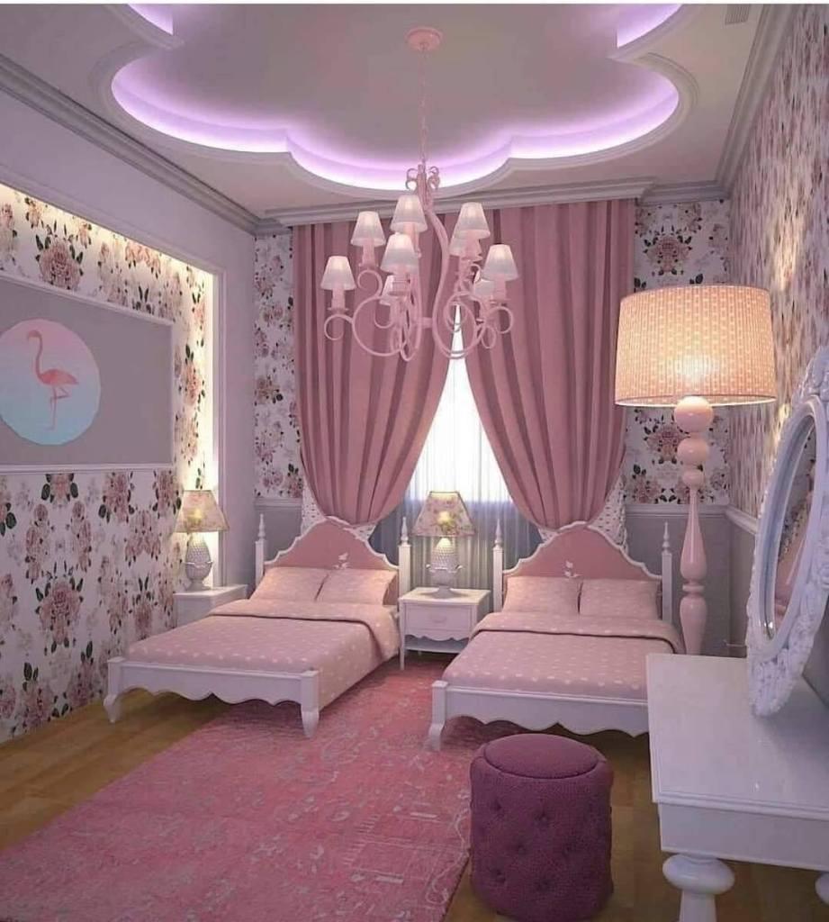 New false ceiling designs for girl bedroom
