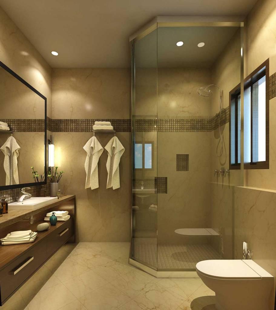 Modern bathroom interior design idea