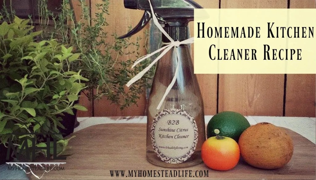 Homemade Kitchen Cleaner Recipe. non-Toxic, All-Natural Amazing Cleaner for your entire kitchen.