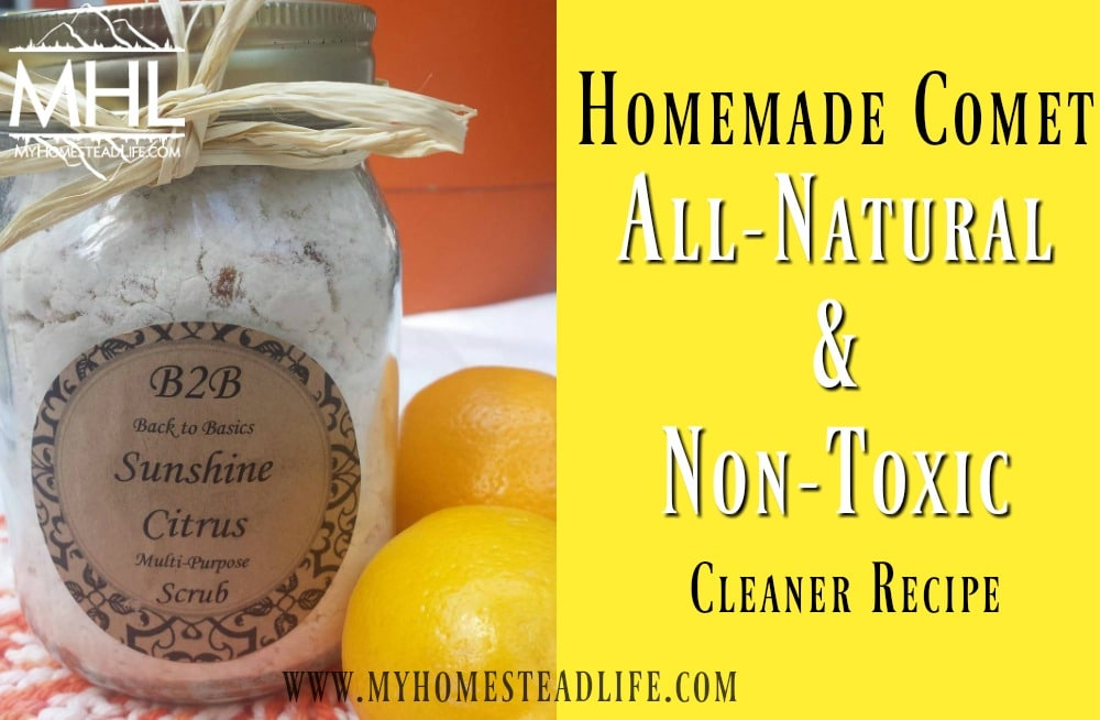 Homemade Comet- All Natural & Non-Toxic Cleaner Recipe