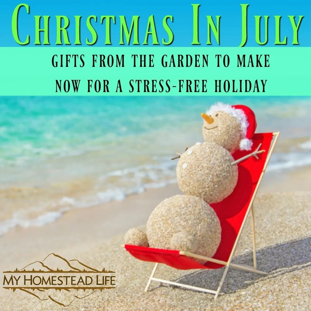 Christmas In July- Gifts From The Garden To Make Now For A Stress ...