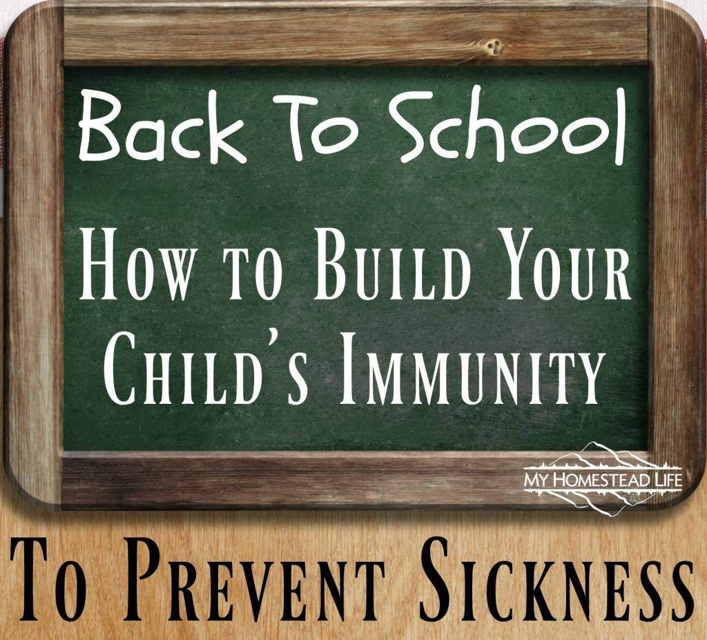 Back To School- How to Build Your Child's Immunity To Prevent Sickness