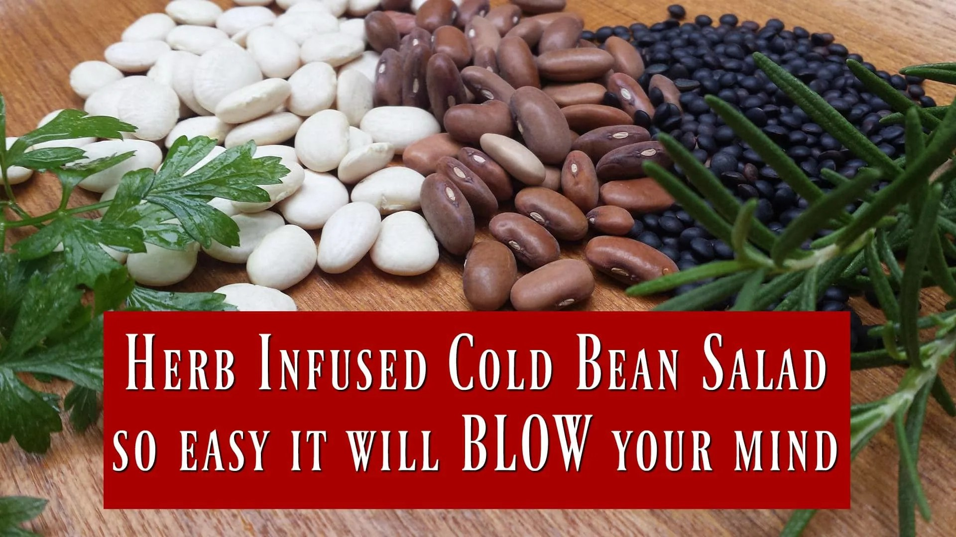 Herb Infused Cold Bean Salad- Se easy it will BLOW your mind!