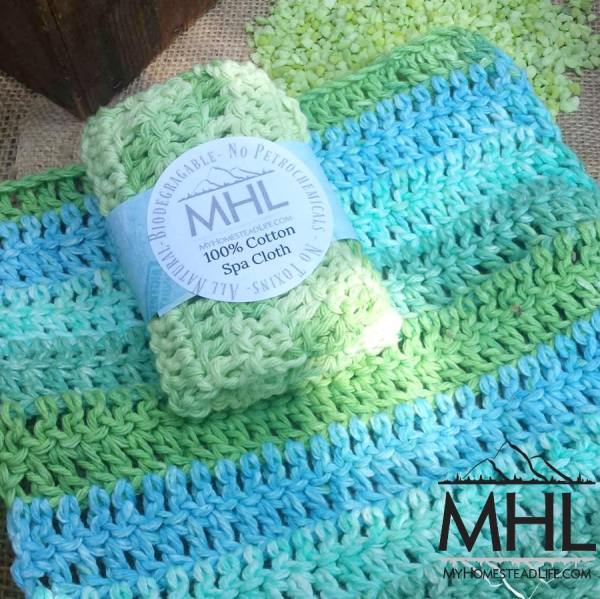 100% Cotton Handcrafted Wash Cloth by My Homestead Life