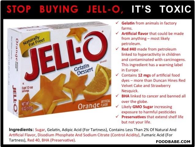 Food Babe Jello- Ingredients