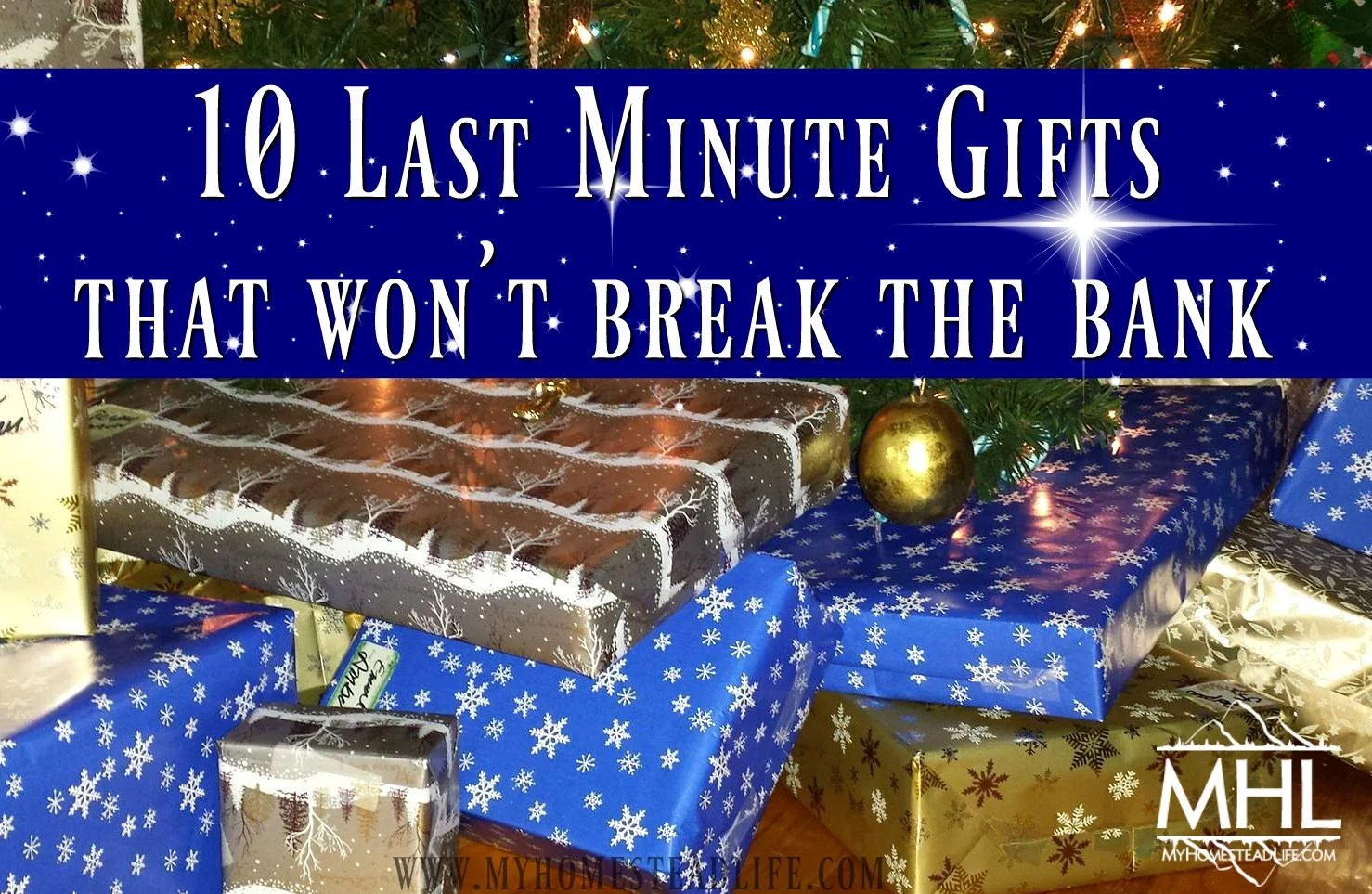 10 Last Minute Gifts That Won't Break The Bank