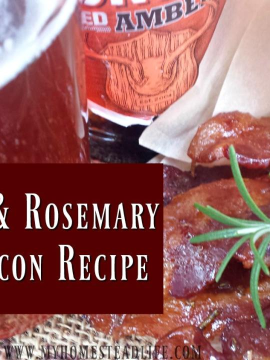 Amber Ale & Rosemary Candied Bacon Recipe