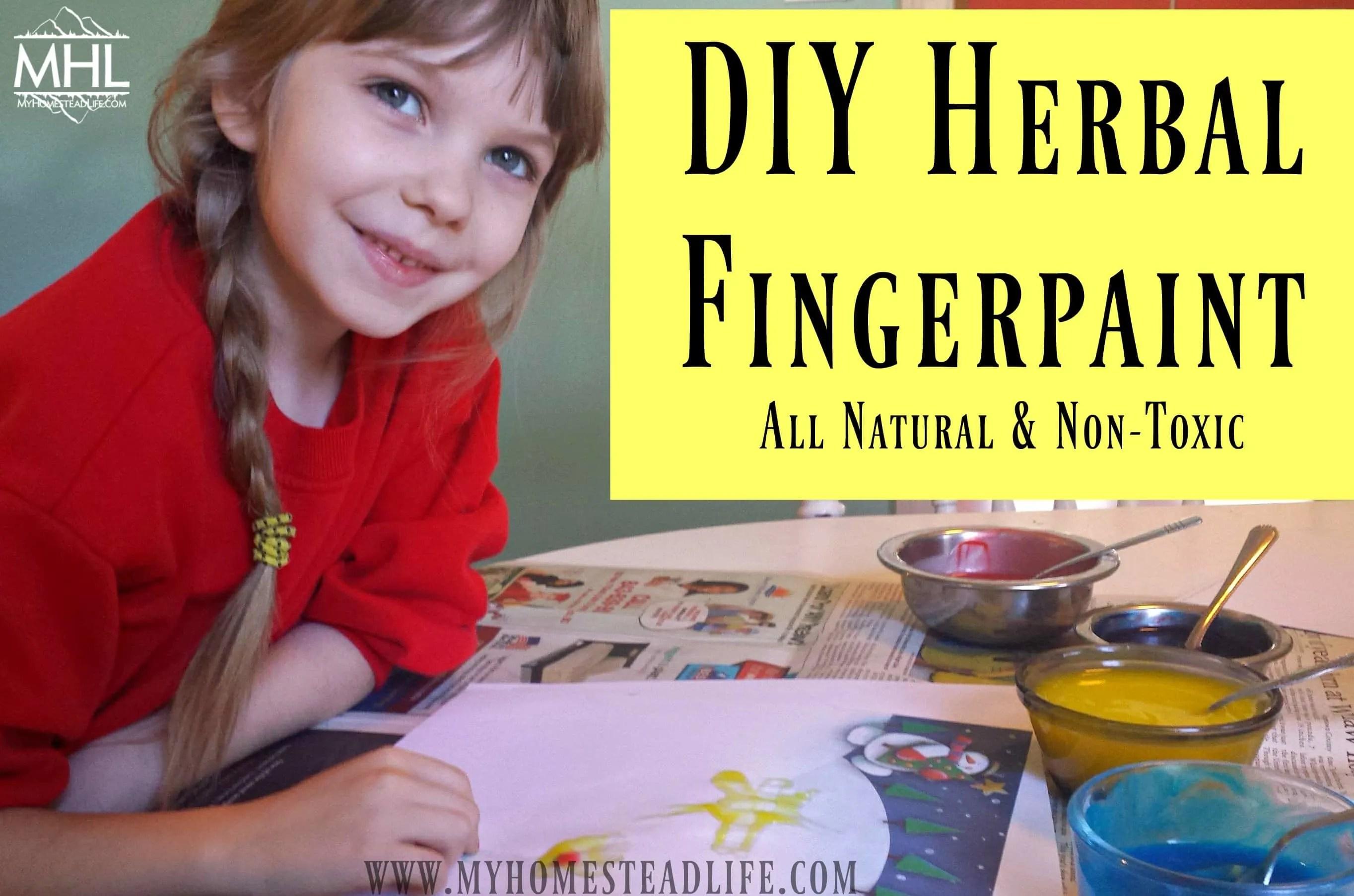 DIY Herbal Fingerpaint Recipe
