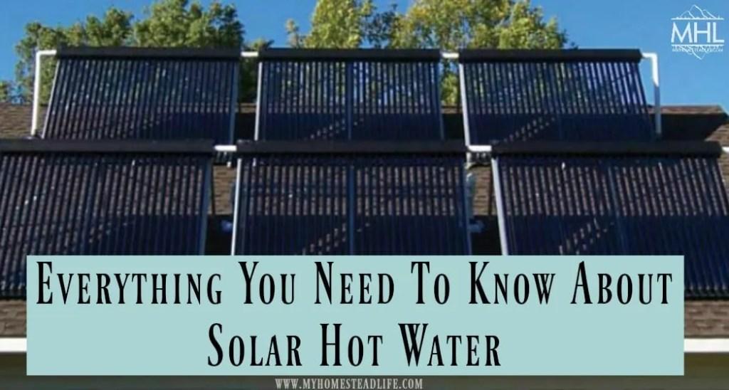 hot water- solar- alternative energy- solar hot water- off grid- living off grid
