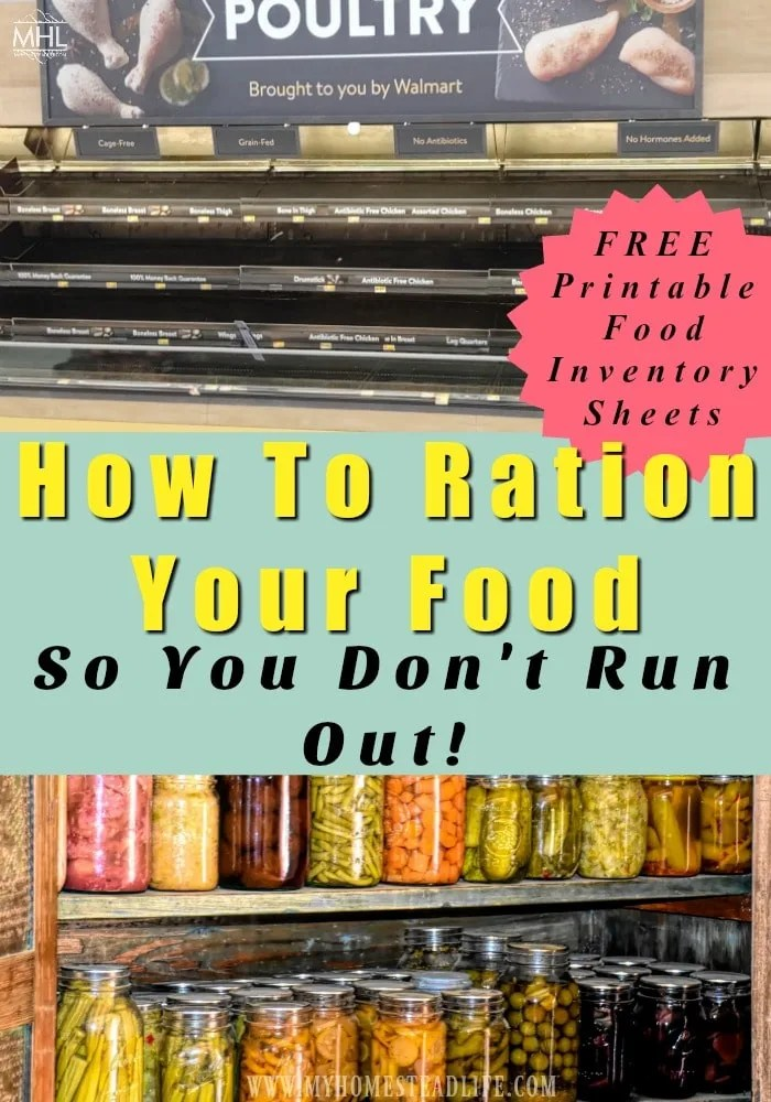 empty shelves at stores- how to ration food