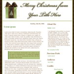 Fall Y'all, bloggy giveaway #1: Christmas blog design