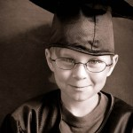Wordless Wednesday: Little Poser in Big Brother's Cap & Gown