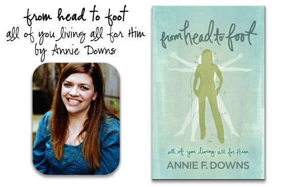Annie Downs from head to feet