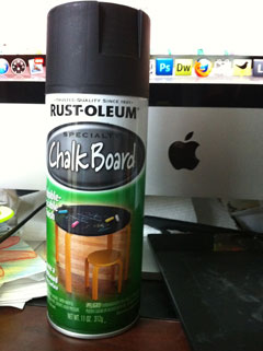 Rust-oleum Specialty Chalk Board spray paint