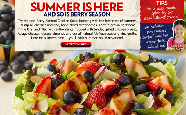 Atlanta Blogger Lunch at Wendy's Featuring the New Berry Almond Chicken Salad