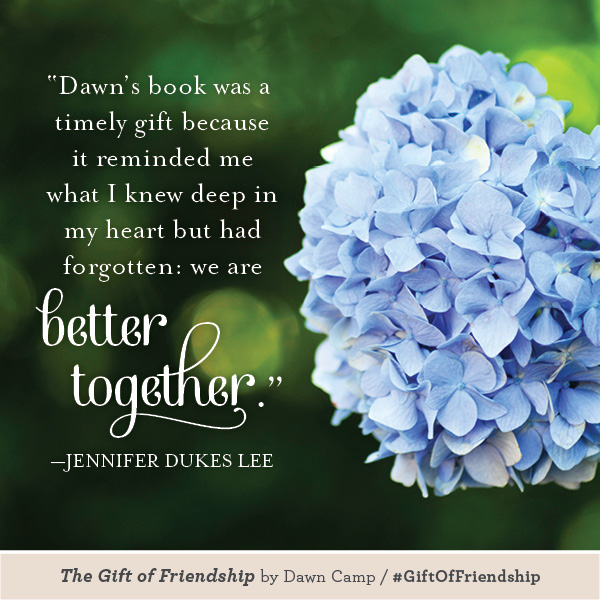 Jennifer Dukes Lee The Gift of Friendship #GiftofFriendship