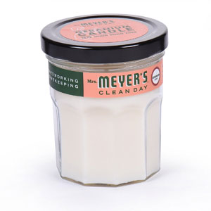 Mrs. Meyer's Merge Clean Day Scented Soy Candle, Geranium
