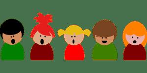 歌う子どもたちのイラスト