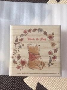 ベルメゾンぷーさんの赤ちゃん筆表の箱