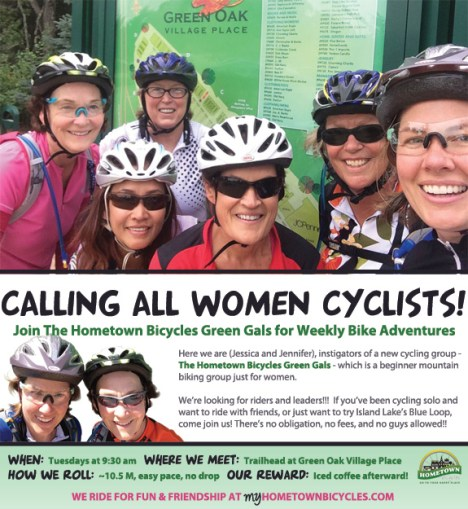 Hometown Bicycles Green Gals - Women Only Cycling Group