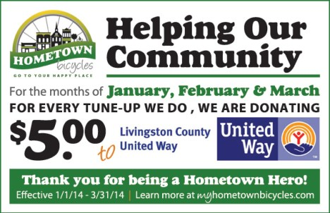 $5 donation to United Way for every tune-up in Jan-Mar