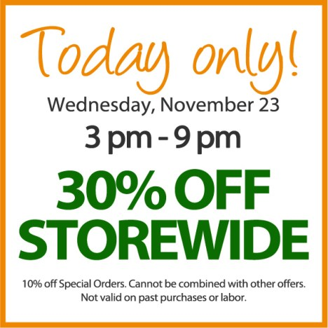 30% off storewide at Hometown Bicycles on November 23, 2016