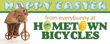 Happy Easter from everybunny at Hometown Bicycles!