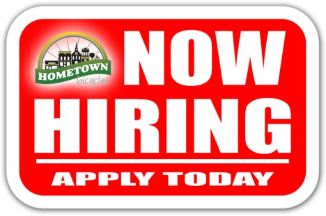 Hometown Bicycles Now Hiring - Apply Today