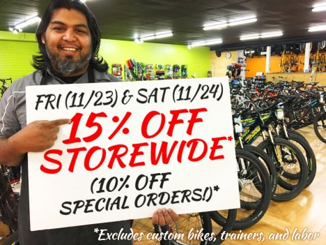 Storewide savings for Black Friday and Small Business Saturday