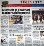 10 January 2015: Media Coverage on Times of India  Guwahati Edition