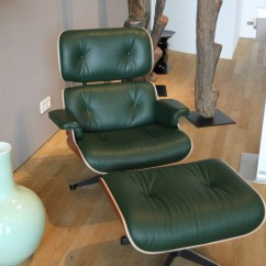 Charles Eames Lounge Chair Suede Bean Bag Vitra In Dark Green Leather | My House Is Castle