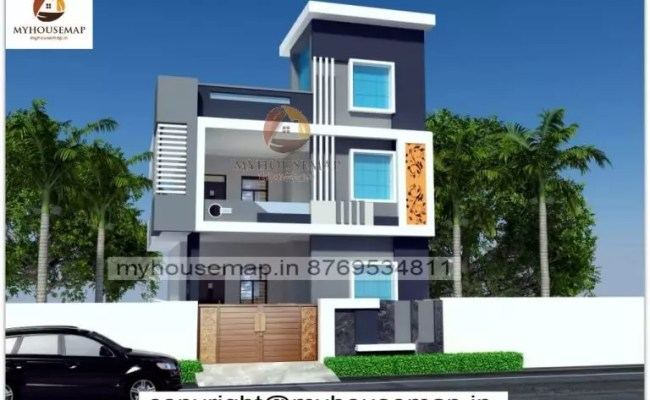 Front Elevation Colours With Single Story White Brown And