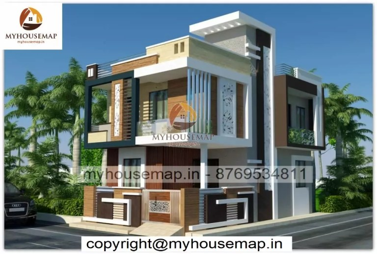 3d elevation double story