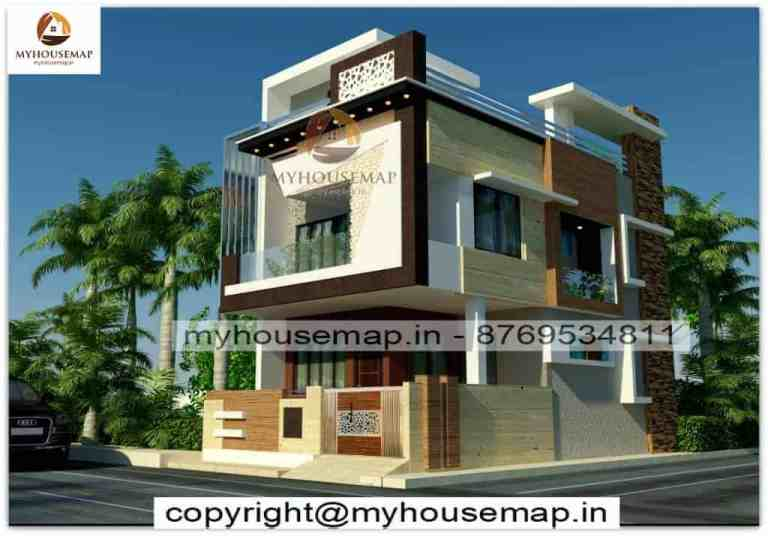 House elevation front & corner