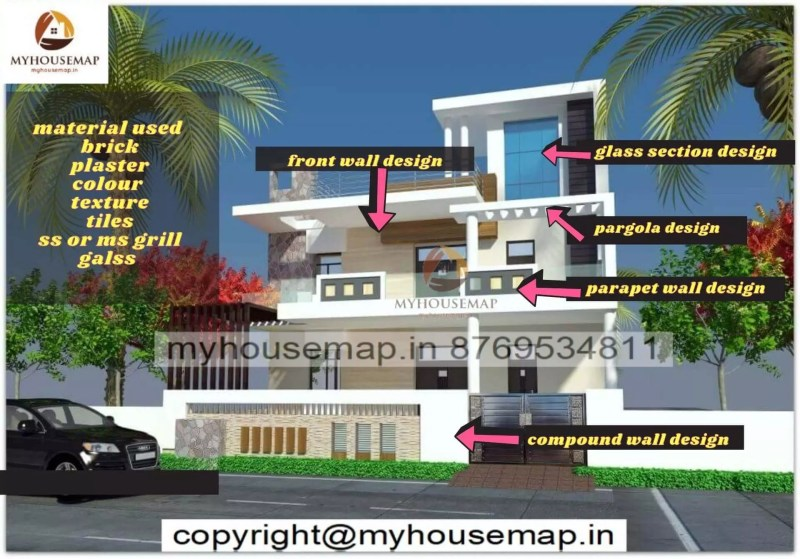 house front elevation design things are covered