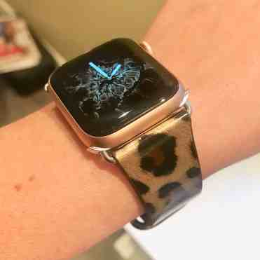 Leopard Leather Strap for Apple Watch