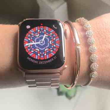 Rose Gold Metal Strap for Apple Watch with bracelets