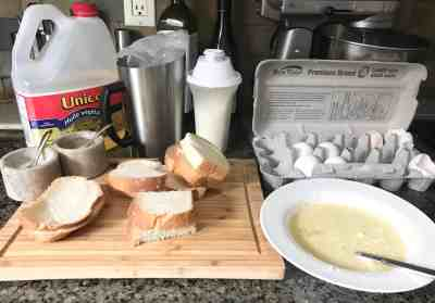 Savoury French Toast Ingredients