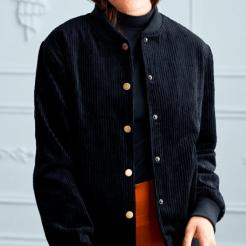 Hilary MacMillan Cord Bomber Jacket