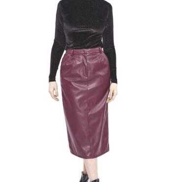 Hilary MacMillan Maroon Pencil Skirt