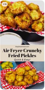 Air Fryer Crunchy Fried Pickles