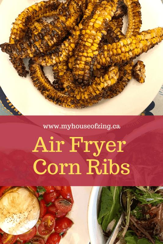 Air Fryer Corn Ribs Pinterest Graphic