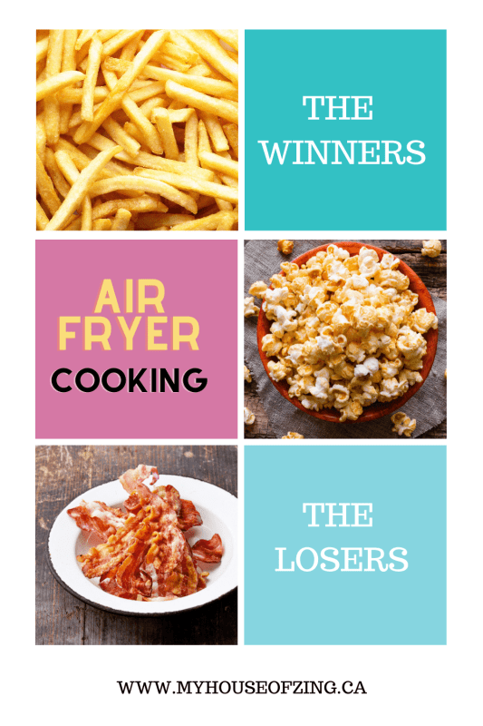 Air Fryer Cooking Winners & Losers Pinterest Pin