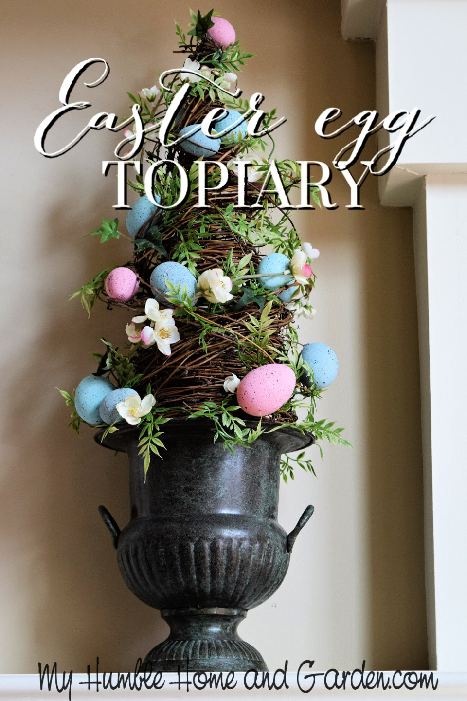How To Make A Cheap Painted Easter Egg Topiary My Humble Home