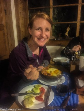 dinner at hostel patagonia